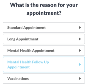 Mental Health Follow Up Appointment